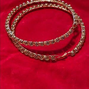 Accessories - Crystal Hoop Earrings